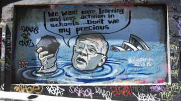 A new mural in Melbourne apes the Coalition's allegiance to coal.