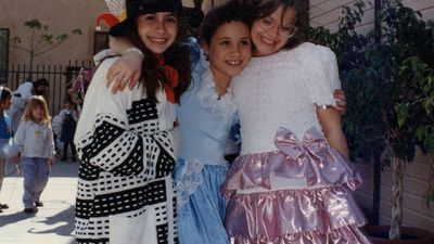 Meghan Markle dressed as a princess at a childhood birthday party