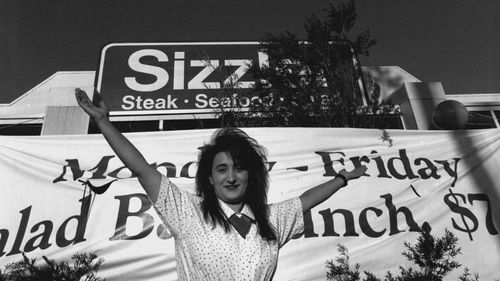 Sizzlers, like this one at Warilla, were popular in Australia in the 1990s.