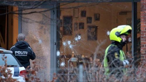 More than 40 bullets were fired at the Copenhagen cafe. (AFP)