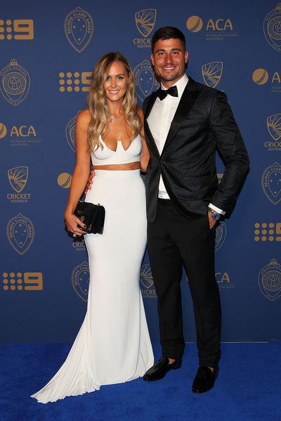 Marcus Stoinis and Stephanie Muller