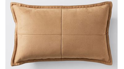 Faux suede cushion