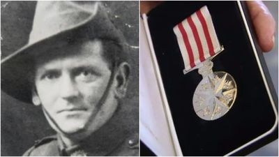 Gallipoli hero awarded posthumous bravery medal