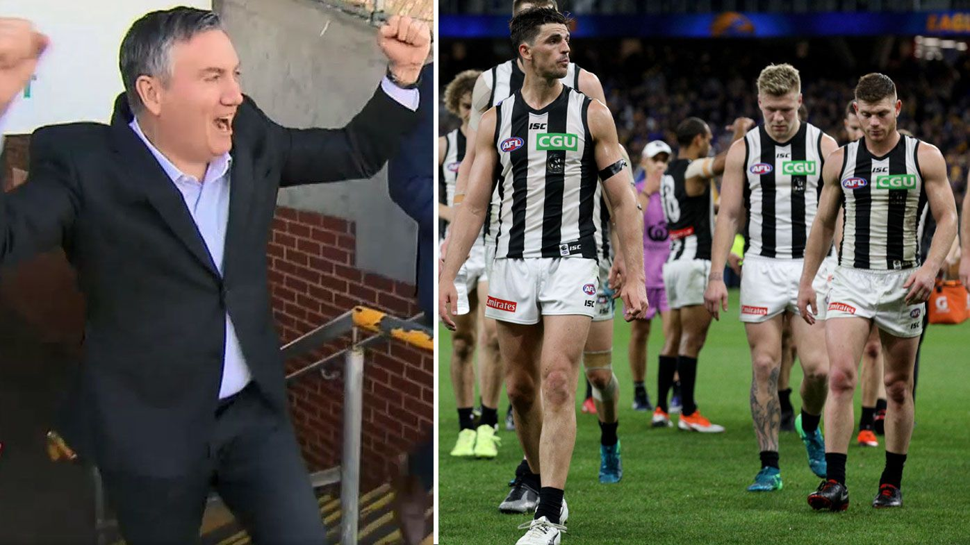 AFL: Collingwood president Eddie McGuire reveals how sons saved him from quitting