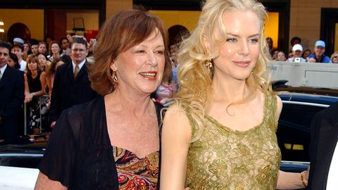 Nicole Kidman with her mother, Janelle. (Getty)