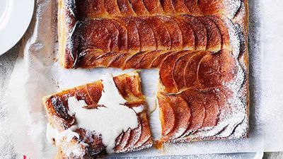 """Click through for our&nbsp;<a href=""""Apple and cinnamon tarte fines with cinnamon crème anglaise Read more at http://kitchen.nine.com.au/2016/05/13/13/20/apple-and-cinnamon-tarte-fines-with-cinnamon-crme-anglaise#f4xB9dzmP8cUmJpe.99"""" target=""""_top"""">Apple and cinnamon tarte fines with cinnamon crème anglaise</a>"""