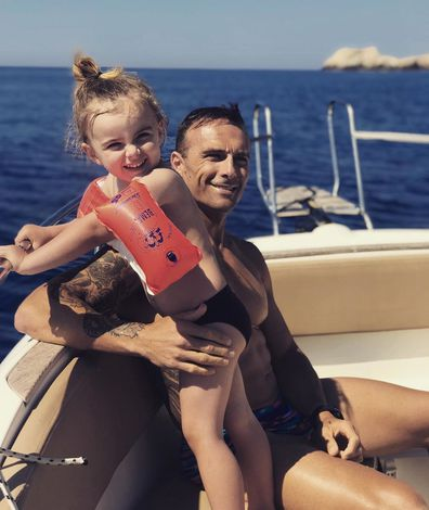 Steve 'Commando' Willis, son, Axel, boat, holiday