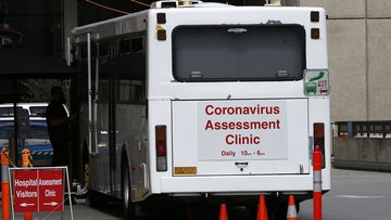 An interim assessment clinic for the new coronavirus SARS-Cov-2, set up near the Launceston General Hospital, in Launceston, Tasmania, Australia, 03 March 2020