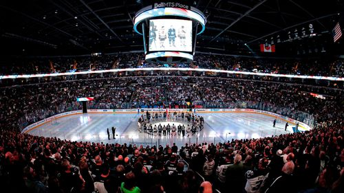 Tributes were made throughout the NHL matches in Canada. (AP).