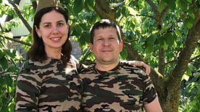 Marina Balmasheva with her ex-husband
