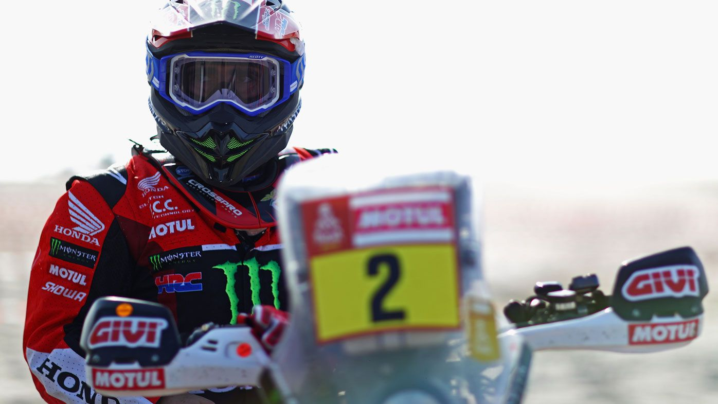 Grieving bike riders sit out Dakar Rally stage in homage to Paulo Goncalves
