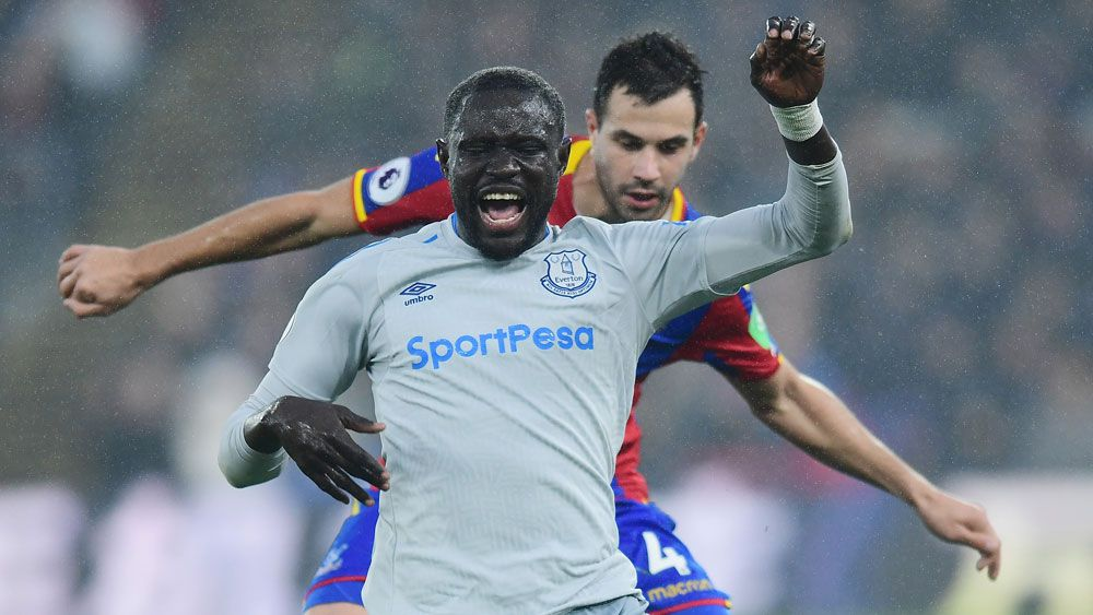 Everton striker Oumar Niasse charged with 'deception' after diving for penalty