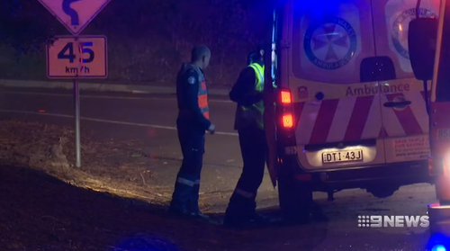 Two officers were injured when their police vehicle was hit head-on by the fleeing Holden.