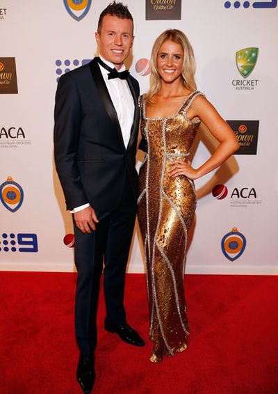 Peter Siddle and Anna Weatherlake.