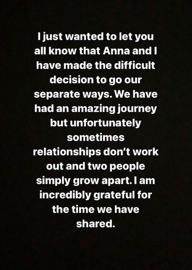 Josh break up Anna Love Island Australia 2019