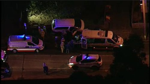 Emergency services at the scene in Granville. (9NEWS)
