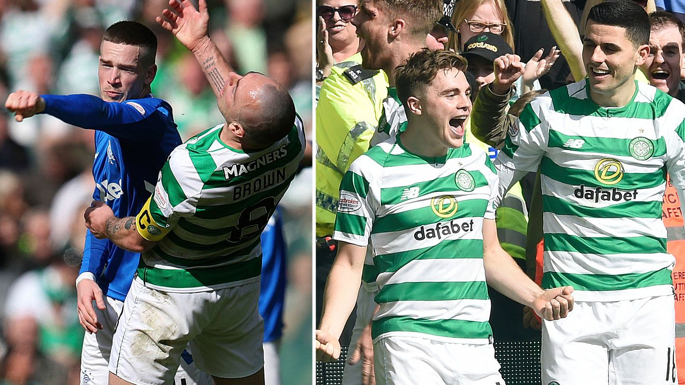 Tom Rogic makes successful Celtic return in fiery Old Firm derby, Scott Brown involved in numerous fights