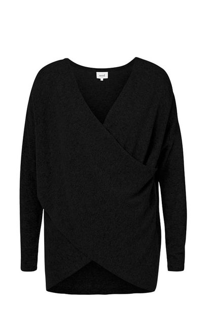 """<strong>#8 A knit for when the air-con gets too cold</strong><br /><a href=""""http://www.seedheritage.com/knits-sweaters/wrap-over-knit/w1/i12813172_1001331/"""" target=""""_blank"""">Sweater, $99.95, Seed</a>"""