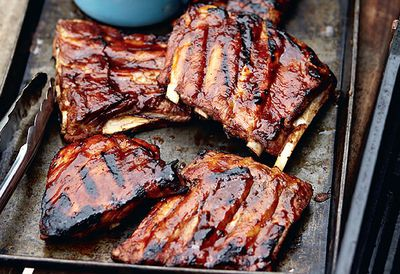 20. Sticky barbecued ribs