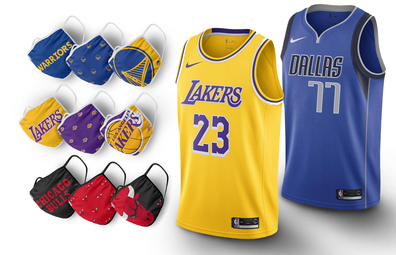 NBA face-coverings and jerseys