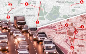 Top 5 worst congested roads in Sydney and Melbourne