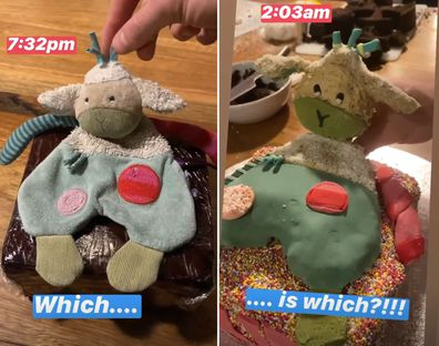 Hamish Blake bakes a Sheepy cake for daughter's birthday