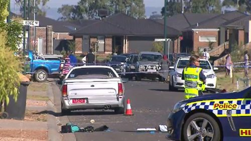 Emergency services at the scene in Melbourne's west last year. (9NEWS)