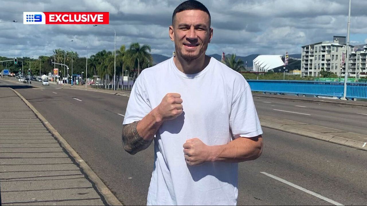 Sonny Bill Williams preparing for his fight in Townsville.