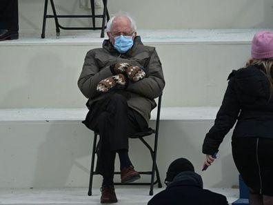 Bernie Sanders at Biden's Inauguration