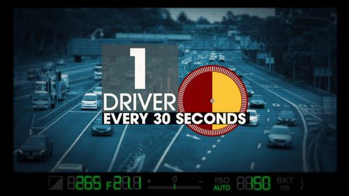 The rate at which drivers were caught on their phones.