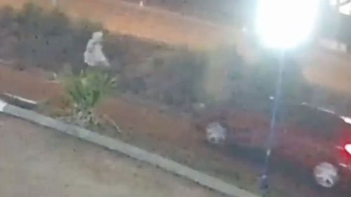 Robber flees Gold Coast carwash in awaiting car.