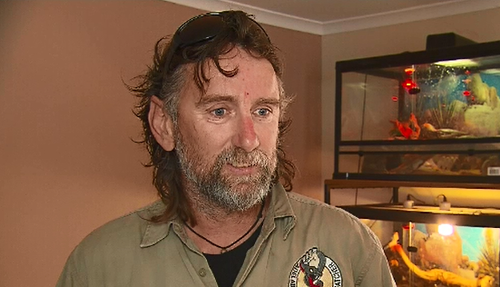 Snake catcher Simon Hempel has seen an increase in snake sightings in residential areas this week.