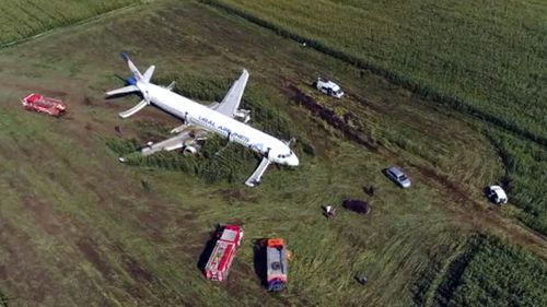The pilots of the plane are being praised for saving the lives of those on board.