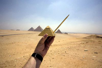 <strong>The Pyramids at Giza, Egypt</strong>