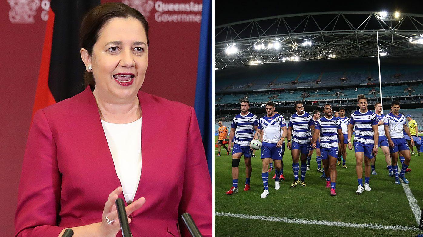 Queensland premier Annastacia Palaszczuk, NRL Round 2