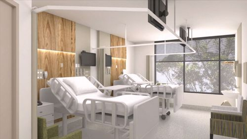 The new building will include world class intensive care, coronary and cardiac wards. Picture: 9NEWS