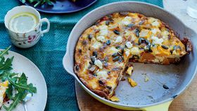 'Sweet dreams' butternut pumpkin, sundried tomato and feta frittata