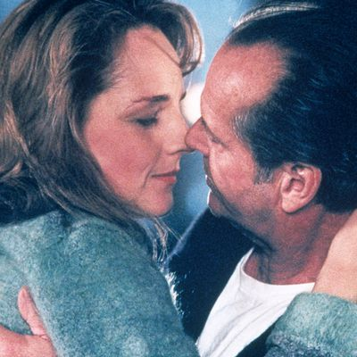 <p>Jack Nicholson and Helen Hunt in <em>As Good As It Gets</em> </p><p><strong>Age gap:</strong> 26 years, 2 months</p>