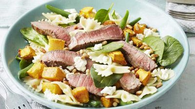 "<a href=""http://kitchen.nine.com.au/2017/06/02/15/01/beef-and-pasta-salad"" target=""_top"">Beef and pasta salad</a> recipe"