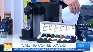 Pod coffee machine Nespresso on Today show