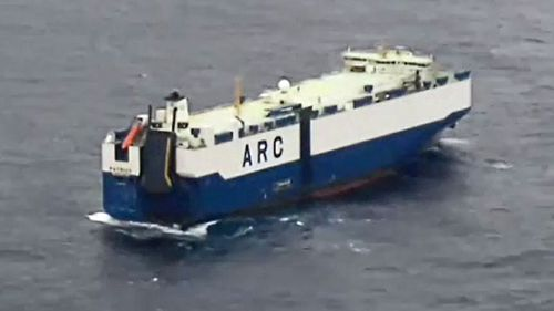 American Roll-on Roll-off Carrier (ARC) ship the Patriot was re-routed to assist in the rescue operation (9NEWS)