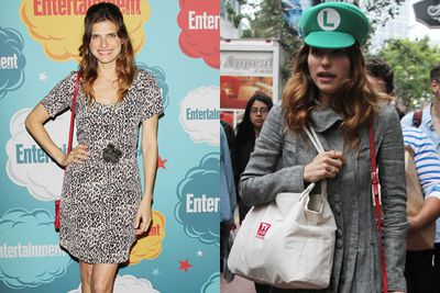 Actress <b>Lake Bell</b> donned a Super Mario Bros hat leaving <i>Entertainment Weekly</i>'s Annual Comic Con party at the Hard Rock Hotel. Awesome.<br/><br/>Images: Getty/London Entertainment /Splash