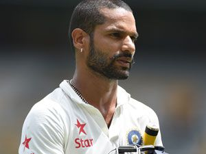 Shikhar Dhawan came under scrutiny for not coming out to bat. (AAP)
