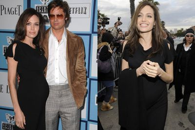 More babies! <br/><br/>In 2008, Ange showed off her growing bub bump at the Independent Spirit Awards. <br/><br/>Source: Getty <br/>