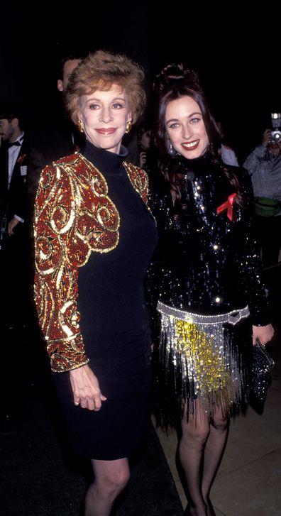 Carol Burnett, Erin Hamilton, Golden Globe Awards, Beverly Hilton Hotel, 1993