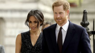 Harry and Meghan attend a memorial service, 23 April 2018
