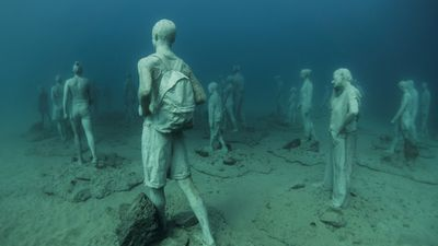 """The project...will also consist of an underwater botanical garden, celebrating Lanzarote's long-standing relationship with art and nature."" (Jason deCaires Taylor)"