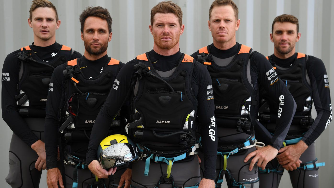 Captain Tom Slingsby(centre) and Team Australia