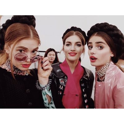 <p>Models Emmy Rappe, Valery Kaufman and Taylor Hill.</p>