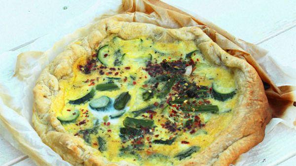 Asparagus and zucchini cake (torta di asparagi e zucchine)